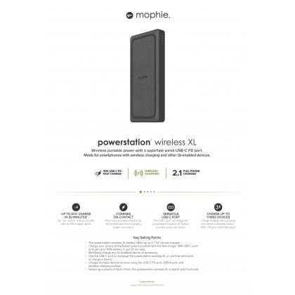 Mophie Powerstation Wireless 10000mAh PD XL Fabric Powerbank